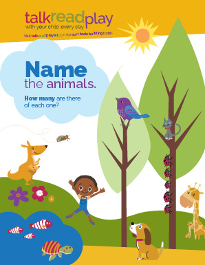 name animals poster